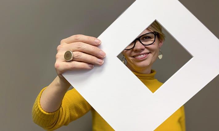 Aimee whit box logo